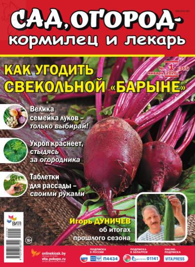 Сад, огород – кормилец и лекарь №1, январь 2020 - Как угодить свекольной барыне